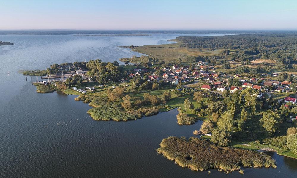 Blick auf Altwarp und das Stettiner Haff